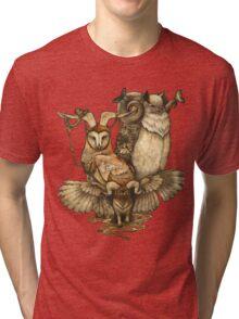Goatowls (colour) Tri-blend T-Shirt