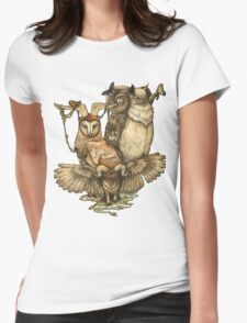 Goatowls (colour) Womens Fitted T-Shirt