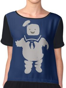 Mr. Stay Puft Marshmallow Man Chiffon Top