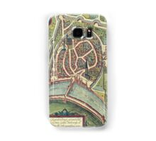Grenoble Vintage map.Geography France ,city view,building,political,Lithography,historical fashion,geo design,Cartography,Country,Science,history,urban Samsung Galaxy Case/Skin