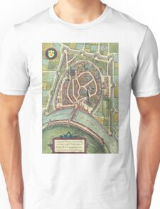 Grenoble Vintage map.Geography France ,city view,building,political,Lithography,historical fashion,geo design,Cartography,Country,Science,history,urban Unisex T-Shirt