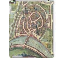Grenoble Vintage map.Geography France ,city view,building,political,Lithography,historical fashion,geo design,Cartography,Country,Science,history,urban iPad Case/Skin
