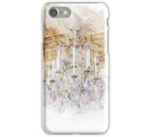 Watercolor Castle Chandelier Print Royal Gold iPhone Case/Skin