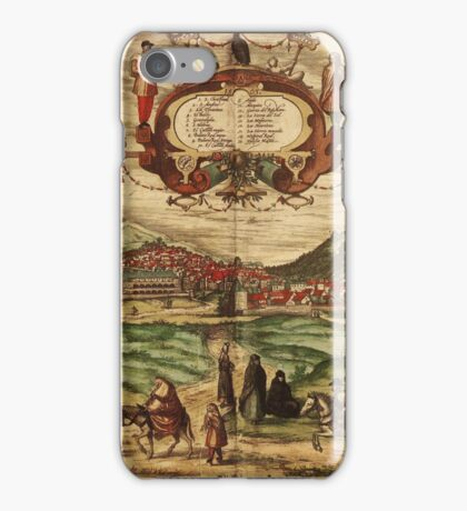 Granada Vintage map.Geography spain ,city view,building,political,Lithography,historical fashion,geo design,Cartography,Country,Science,history,urban iPhone Case/Skin