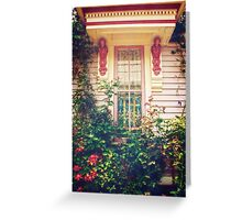 Victorian Cottage Window Greeting Card