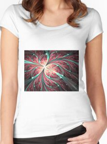 Butterfly - Abstract Fractal Artwork Women's Fitted Scoop T-Shirt