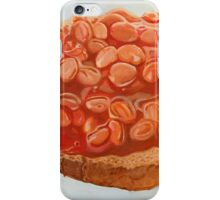 baked beans on toast iPhone Case/Skin