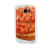 baked beans on toast Samsung Galaxy Case/Skin