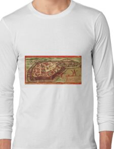 Gotha Vintage map.Geography Germany ,city view,building,political,Lithography,historical fashion,geo design,Cartography,Country,Science,history,urban Long Sleeve T-Shirt