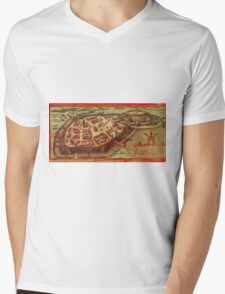 Gotha Vintage map.Geography Germany ,city view,building,political,Lithography,historical fashion,geo design,Cartography,Country,Science,history,urban Mens V-Neck T-Shirt