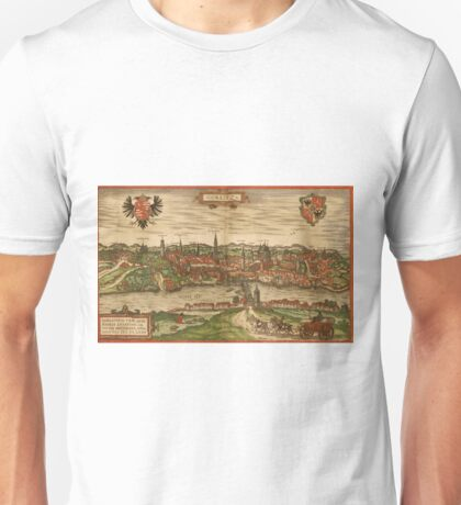 Gorlitz Vintage map.Geography Germany ,city view,building,political,Lithography,historical fashion,geo design,Cartography,Country,Science,history,urban Unisex T-Shirt