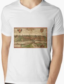 Gorlitz Vintage map.Geography Germany ,city view,building,political,Lithography,historical fashion,geo design,Cartography,Country,Science,history,urban Mens V-Neck T-Shirt