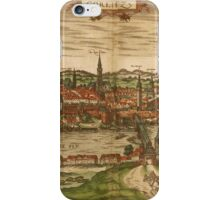 Gorlitz Vintage map.Geography Germany ,city view,building,political,Lithography,historical fashion,geo design,Cartography,Country,Science,history,urban iPhone Case/Skin