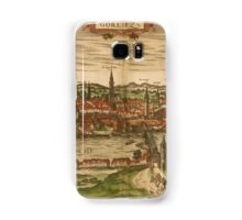 Gorlitz Vintage map.Geography Germany ,city view,building,political,Lithography,historical fashion,geo design,Cartography,Country,Science,history,urban Samsung Galaxy Case/Skin