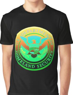 Homeland Security Seal - Psychedelic Parody Graphic T-Shirt