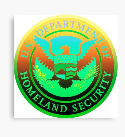 Homeland Security Seal - Psychedelic Parody Canvas Print