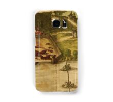 Goa Vintage map.Geography india ,city view,building,political,Lithography,historical fashion,geo design,Cartography,Country,Science,history,urban Samsung Galaxy Case/Skin