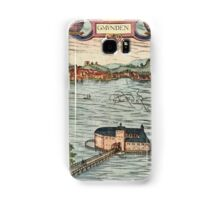 Gmunden Vintage map.Geography Austria ,city view,building,political,Lithography,historical fashion,geo design,Cartography,Country,Science,history,urban Samsung Galaxy Case/Skin