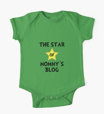 Mommy's Blog Star One Piece - Short Sleeve
