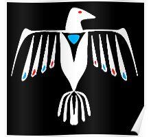 Native American Thunderbird in white Poster