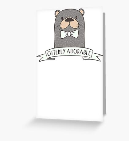 Funny Otter T Shirt Greeting Card