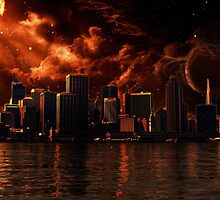 Orange After World City ( Landscape ) by Wookiee