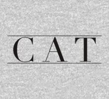 Minimalistic CAT Typography  by catcreature