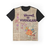 Rabbit Welcome To .. Alice In Wonderland Graphic T-Shirt
