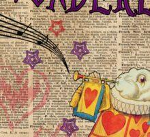 Rabbit Welcome To .. Alice In Wonderland Sticker