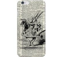 White Rabbit,Alice in Wonderland,Ink Illustration,Dictionary Art iPhone Case/Skin