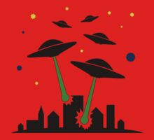 UFO Attack Baby Tee