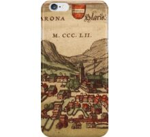 Glarus Vintage map.Geography Switzerland ,city view,building,political,Lithography,historical fashion,geo design,Cartography,Country,Science,history,urban iPhone Case/Skin