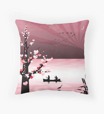 Pillow - I Love Canoeing Throw Pillow