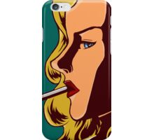 Retro Chick  iPhone Case/Skin