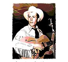 Hank Williams Watercolor by jerry2011