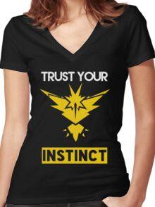 Trust Your Instinct Women's Fitted V-Neck T-Shirt