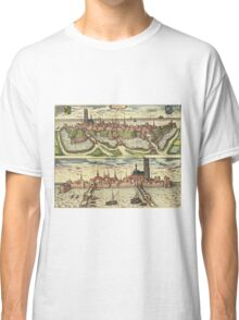 Harderwijk Vintage map.Geography Netherlands ,city view,building,political,Lithography,historical fashion,geo design,Cartography,Country,Science,history,urban Classic T-Shirt