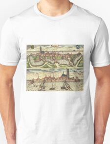 Harderwijk Vintage map.Geography Netherlands ,city view,building,political,Lithography,historical fashion,geo design,Cartography,Country,Science,history,urban Unisex T-Shirt