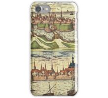 Harderwijk Vintage map.Geography Netherlands ,city view,building,political,Lithography,historical fashion,geo design,Cartography,Country,Science,history,urban iPhone Case/Skin