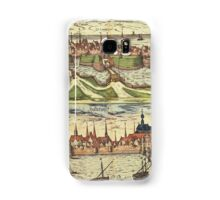 Harderwijk Vintage map.Geography Netherlands ,city view,building,political,Lithography,historical fashion,geo design,Cartography,Country,Science,history,urban Samsung Galaxy Case/Skin