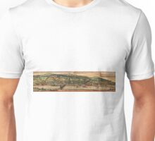 Heidelberg Vintage map.Geography Germany ,city view,building,political,Lithography,historical fashion,geo design,Cartography,Country,Science,history,urban Unisex T-Shirt