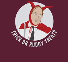 Trick or Ruddy Treat? (text) T-Shirt