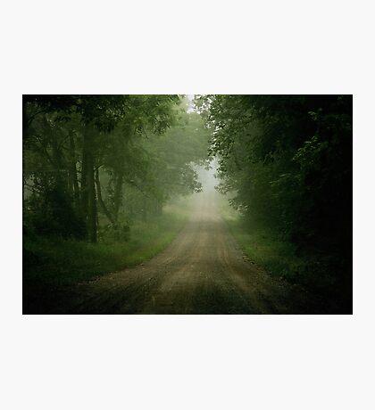Foggy Road Photographic Print