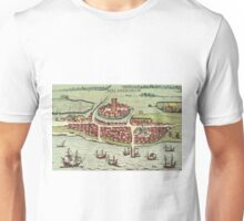 Helsinborg Vintage map.Geography Sweden ,city view,building,political,Lithography,historical fashion,geo design,Cartography,Country,Science,history,urban Unisex T-Shirt