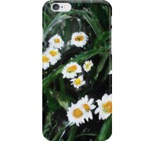 Daisies Wild English Countryside Flower Acrylic Painting On Paper iPhone Case/Skin