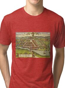 Kolding Vintage map.Geography Denmark ,city view,building,political,Lithography,historical fashion,geo design,Cartography,Country,Science,history,urban Tri-blend T-Shirt