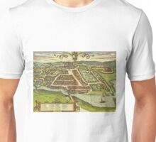 Kolding Vintage map.Geography Denmark ,city view,building,political,Lithography,historical fashion,geo design,Cartography,Country,Science,history,urban Unisex T-Shirt