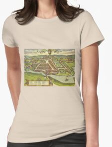 Kolding Vintage map.Geography Denmark ,city view,building,political,Lithography,historical fashion,geo design,Cartography,Country,Science,history,urban Womens Fitted T-Shirt