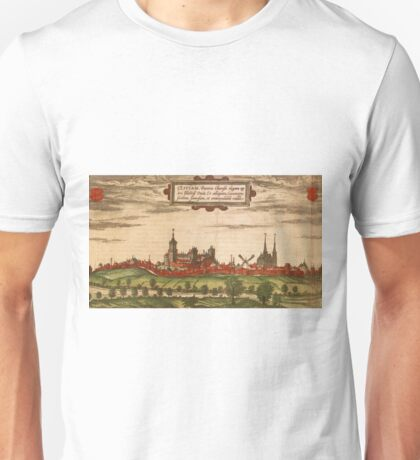 Kleve Vintage map.Geography Germany ,city view,building,political,Lithography,historical fashion,geo design,Cartography,Country,Science,history,urban Unisex T-Shirt