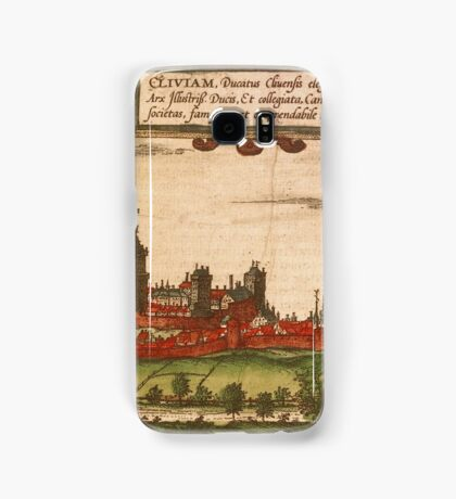 Kleve Vintage map.Geography Germany ,city view,building,political,Lithography,historical fashion,geo design,Cartography,Country,Science,history,urban Samsung Galaxy Case/Skin